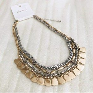 NEW EVEREVE SIENA LAYERED STATEMENT NECKLACE